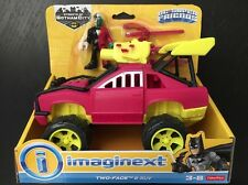 "Imaginext TWO FACE & SUV Super Friends DC Comics 2.5"" Fisher Price Car NEW 3+"