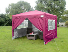 Quictent Silvox® 8'x8'EZ Pop Up Canopy Gazebo Party Tent Pink 100% Waterproof