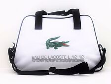 LACOSTE PARFUMS L.12.12 WHITE MENS SPORT/ GYM BAG *NEW