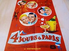 4 JOURS A PARIS ! luis mariano , affiche cinema 1955