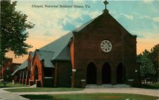 CHAPEL NATIONAL SOLDIERS HOME IN VIRGINIA POSTCARD c1910