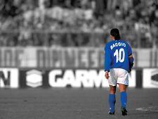 POSTER ROBERTO BAGGIO CODINO BRESCIA MILAN JUVE INTER SOCCER FOOTBALL CALCIO #3