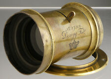 Derogy Paris & Londres __ antique French brass lens for wood Plate Field cameras