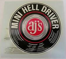 "1970s AJ's Mini Hell Driver 3"" Waterslide Decal"