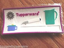 """Tupperware 4 x Magnets Set  Advertise Name Number. Thick. 5""""x2.5"""" Rare Logo New"""