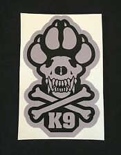 K9 UNIT CROSSBONES POLICE VINYL DECAL STICKER MILITARY CAR VEHICLE WINDOW BIG 6""