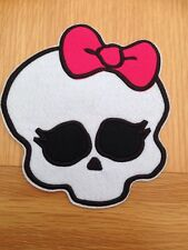 Large Skull  Logo Crest Badge Iron /Sew On 14.5cm X 16cm approx