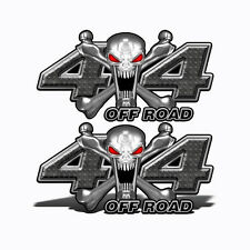4X4 OFF ROAD Decals BLACK SKULL Graphic Toyota Chevy Ford Dodge Truck Mk400OR4