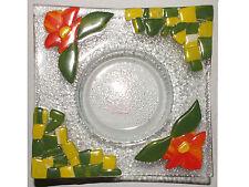 Ritzenhoff Glasschale Teelichthalter Dekoschale Grün Gelb 18cm Neu!