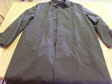 MENS VINTAGE DACRON & COTTON BRAND MILITARY GREEN ALL WEATHER RAIN TRENCH COAT