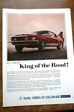 Pub Ad 1968 CAR AUTO Ford SHELBY Cobra GT 350 / 500