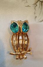 Vintage Designer Coro Craft Signed Rare Fur Clip Owl Stunning Perfect Condition!