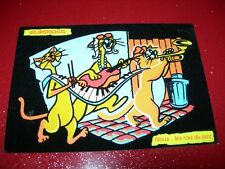 CARTE POSTALE FANTAISIE FEUTRINE LES ARISTOCHATS  WALT DISNEY PRODUCTIONS