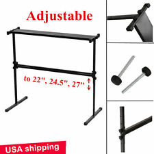 Black Adjustable Height Electronic Piano Music Keyboard Holder H Stand Rack WP