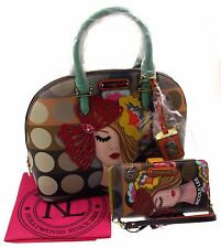 Nicole Lee Vicky Thinks Fashion Domed Satchel Handbag Wallet VIC11687 Purse Tote