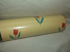 1 DOUBLE ROLL LAURA ASHLEY VINYL WALLPAPER FLEUR COWLSIP TULIP FLORAL YELLOW