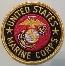 US MARINE CORPS USMC 3 INCH ROUND PATCH - MADE IN THE USA!