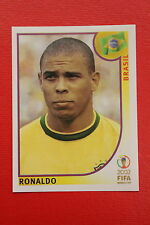 PANINI KOREA JAPAN 2002 # 184 BRASIL RONALDO WITH BLACK BACK MINT!!!