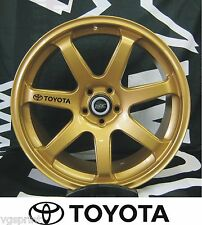 TOYOTA 6x ALLOY WHEEL DECAL STICKERS GRAPHICS CHOICE OF COLOURS FAST DISPATCH