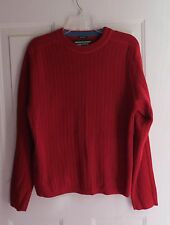 Abercrombie and Fitch Men's Muscle Sweater A/92 Red L Large
