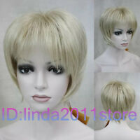HOT! Fashion wig New sexy Women's short Blonde Natural Hair wigs + Free Wig cap