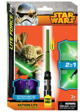 Classic Star Wars Yoda Spring Loaded Mini Light Saber Action Lite Toy NEW SEALED