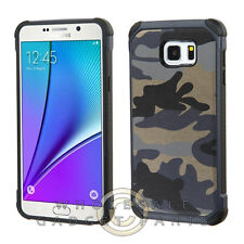 Samsung Galaxy Note 5 Advanced Armor Case-Camouflage Navy Blue/Black Cover Shell