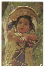 PAPOOSE and CRADLE BOARD Native American Indian Baby Child Vintage Postcard