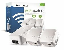 DEVOLO 9640 POWERLINE DLAN 550 WIFI NETWORK KIT COMPELTE WITH 3 ADAPTERS/PLUGS