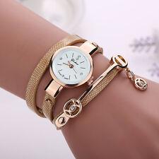 2016 Hot Fashion Women Watch Ladies PU Leather Band Stainless Steel Wrist Watch