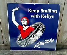 KELLY TIRES 1930'S STYLE LARGE SIZE PORCELAIN SIGN