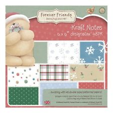 "TASTER PACK 6""x6"" DESIGNSTAX PAPERS - FOREVER FRIENDS CHRISTMAS KRAFT NOTES"