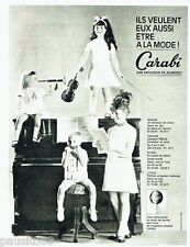 PUBLICITE ADVERTISING 126  1964  Carabi  pret à porter mode enfant