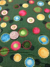 100% Cotton Fabric By 1/2 Mtr Benartex Holiday Favourites Green Nancy Halvorsen