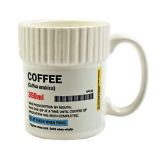 COFFEE PRESCRIPTION PILL POT SHAPED MUG CERAMIC CUP TEA CHOCOLATE GIFT PHARMACY