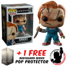 FUNKO POP CHUCKY SCARRED EXCLUSIVE VINYL FIGURE + FREE POP PROTECTOR