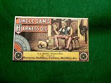 Uncle Sam's Harness Oil Saddles Collars Bridles Carriage Tops Patriotic Dog Z2