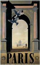 Paris by A.M. Cassandre 1935 Travel Poster 13 x 19 Giclee print