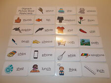Digraphs Picture Word Laminated Flashcards.  Preschool-2nd Grade ELA/ Language