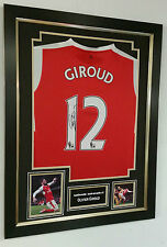 *** New Olivier Giroud of Arsenal Signed Shirt Autograph Display ***