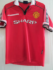 Manchester United 1998 Treble Home Football Shirt Medium /40242