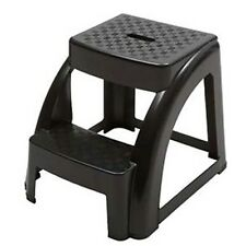 2-Step 300 Pound Capacity Durable Utility Step Stool - Black