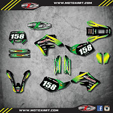 Kawasaki KLX 250 2004 - 2007 Full custom sticker kit SUNRISE style decals