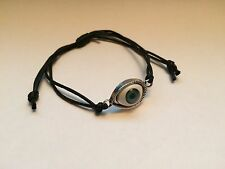 Black Corded Turkish Eye Evil Eye Adjustable Bracelet