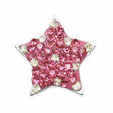 Clay Rhinestone Star Charm Chunk Snap Button for Noosa Bracelet Necklace #KY11