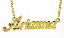 18k Chapado En Oro Con Collar Con Nombre Arianna-La Boda gracias Regalos Para Ella