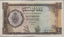 Libya 10 Pound 5.2.1963 P 27 Prefix 4 A/9  Circulated banknote Rare