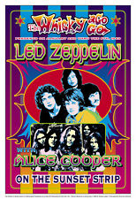 Jimmy Page & Plant with Led Zeppelin at the Whisky A Go Go Concert Poster 1969