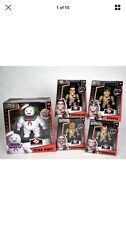 "Jada Metals 4"" GHOSTBUSTERS DIE CAST FIGURE SET OF 4 + 6"" MARSHMALLOW MAN"