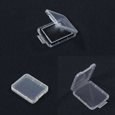 10Transparent Standard SD SDHC Memory Card Case Holder Boxes Storage Plastic lsX